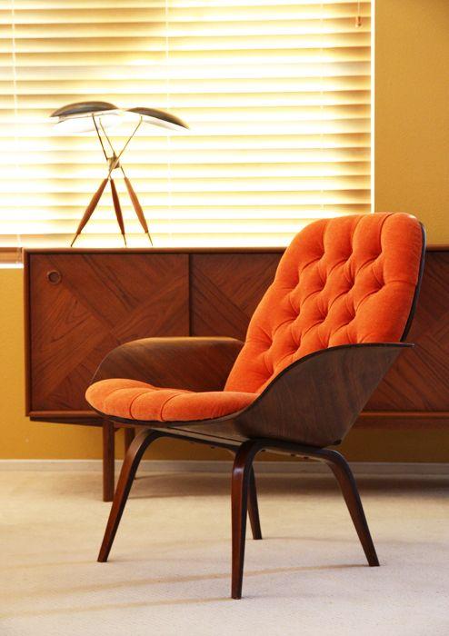 Plycraft Mid century Lounge chair Danish Modern Eames