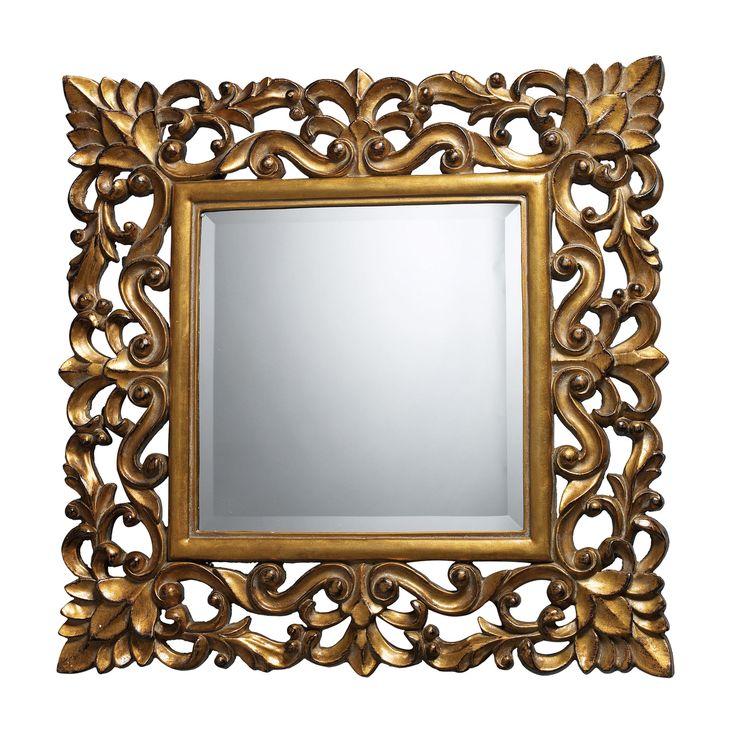 decorative gold mirrors. Dimond Lighting Barrets Mirror in Beaufort Gold  Mirrors Decor 61 best images on Pinterest Brown mirrors Dark brown