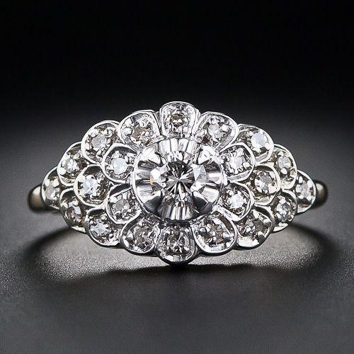 Mid-Century Vintage Diamond Ring - 10-1-4845 - Lang Antiques