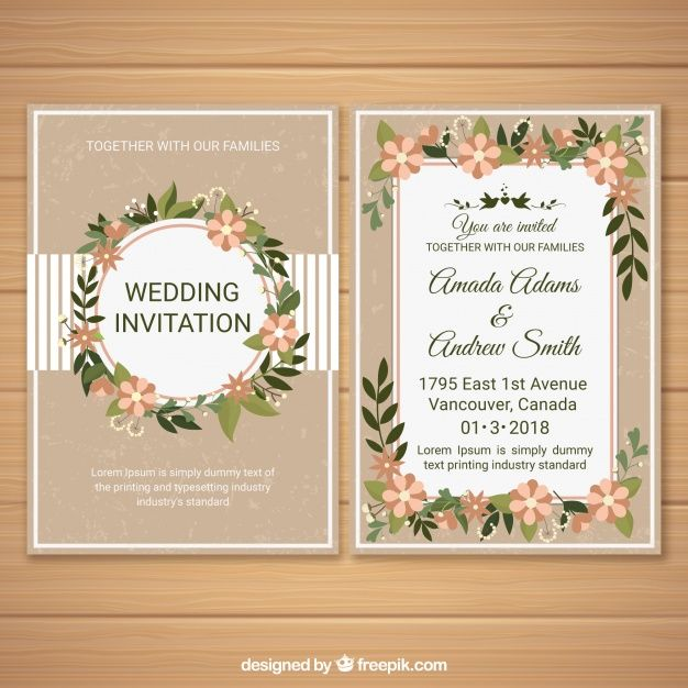 baixe convite de casamento com ornamentos florais gratuitamente wedding invitations wedding cards wedding anniversary greetings wedding invitations wedding cards