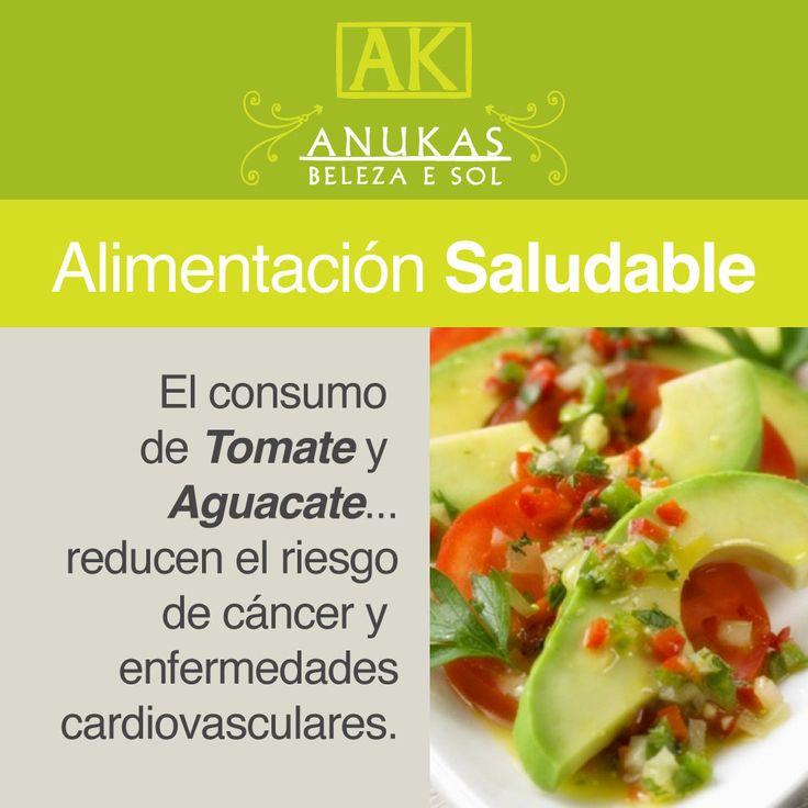 #Alimentación Saludable El consumo de tomate y aguacate...
