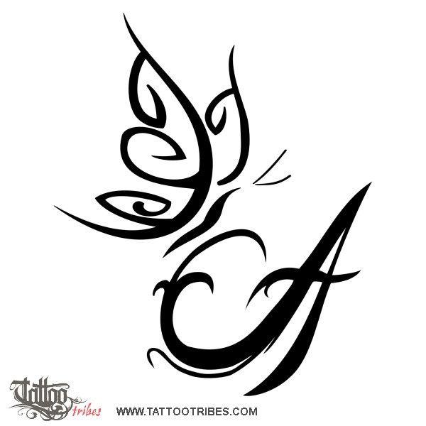 Tatuaggio di Farfalla su A, Libertà,