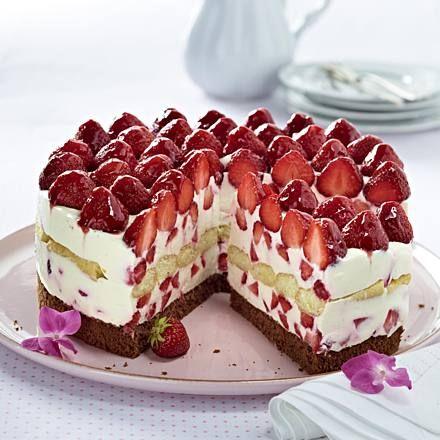Italienische Erdbeer-Mascarpone-Torte Rezept | LECKER