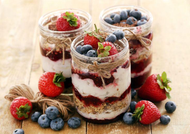 Fruchtige Overnight Oats mit Joghurt #frühstück #nu3