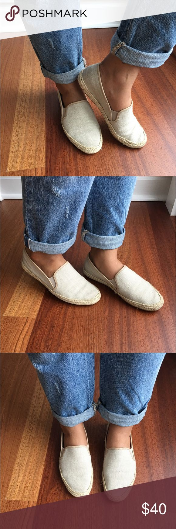 Belle by Sigerson Morrison espadrille Nudie canvas Belle Sigerson Morrison espadrille loafers Nudie canvas- this is so stylish and comfortable-EUC- cream canvas upper, jute braided around, leather soles, size 8.5 B. Belle by Sigerson Morrison Shoes Espadrilles