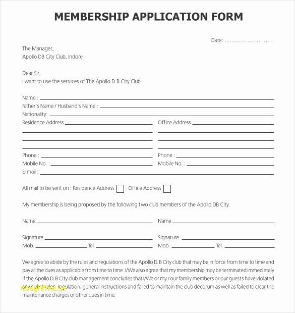 Sports Registration Form Template Lovely Sports Registration Form Template Registration Form In Template Printable Booster Club Membership Application Form