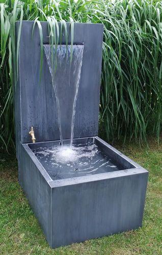 Zinc garden fountain FONTAINE ZINC PATINÉ & ÉCLAIRAGE OSMOSE SARL
