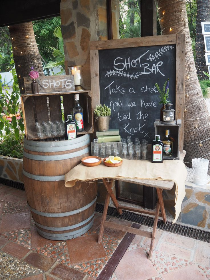 Share a shot when you tie the knot... Shot bar at Caballos 2015.