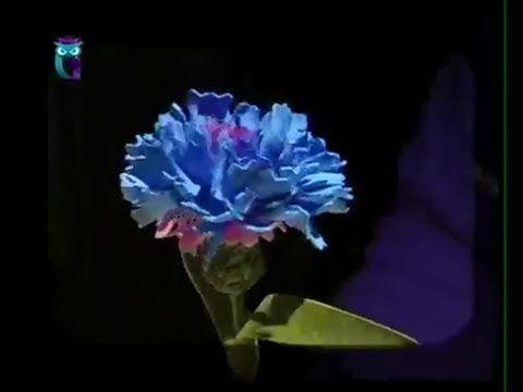 Делаем цветок василек из фоамирана (пористая резина). Мастер класс - YouTube