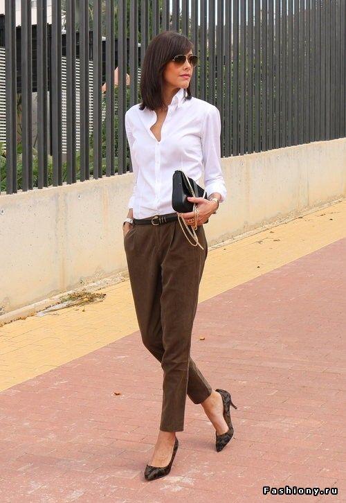 С чем носить блузку и не только в офис (100 фото)!