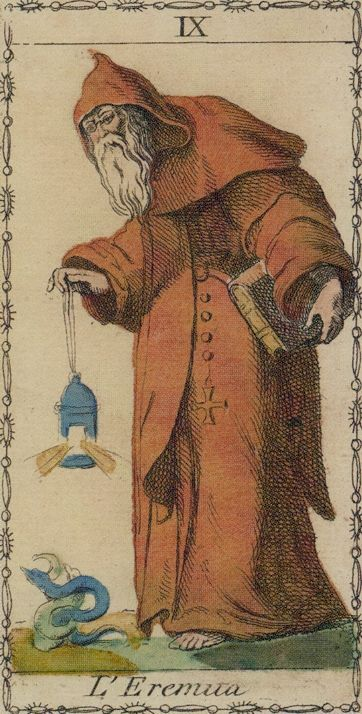 Ancient Tarot of Lombardy - The Hermit
