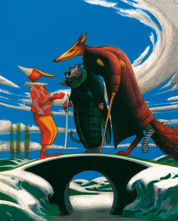 Lorenzo Mattotti Pinocchio - Il Gatto e la Volpe