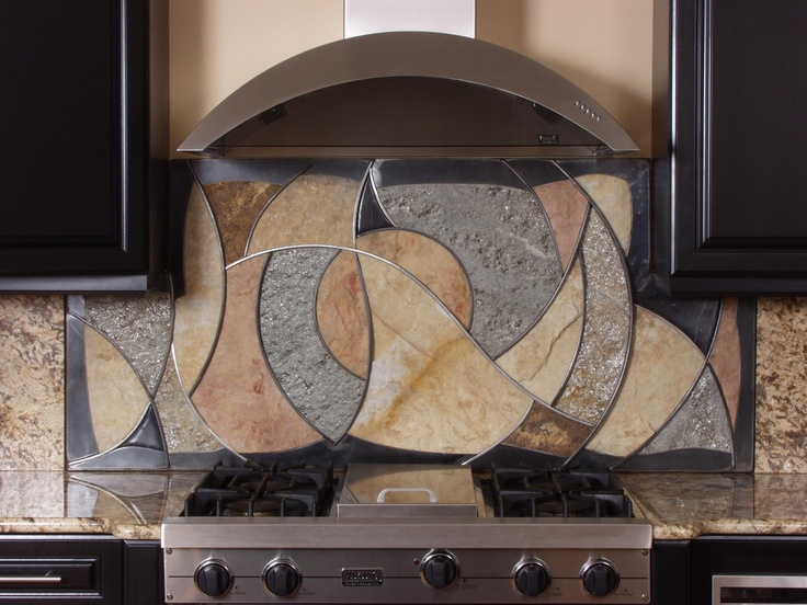 Four Materials Artfully Combined Into An Exquisite Composition That Both  Blends With And Enhances This Custom Kitchen Environment.