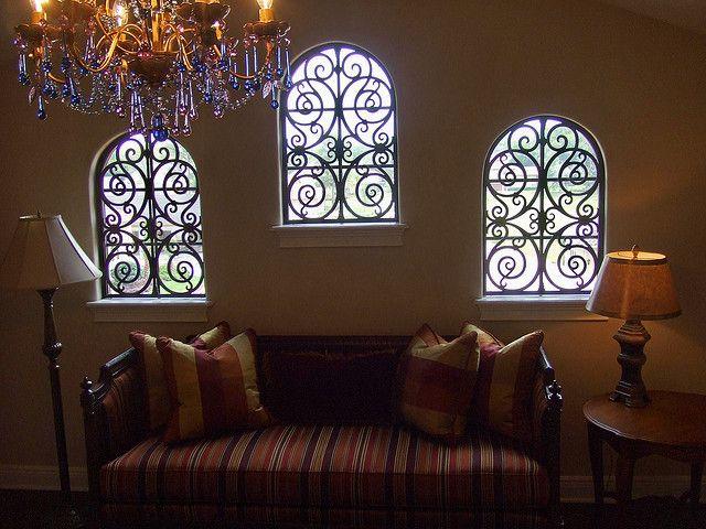 Faux Wrought Iron decorative window treatment