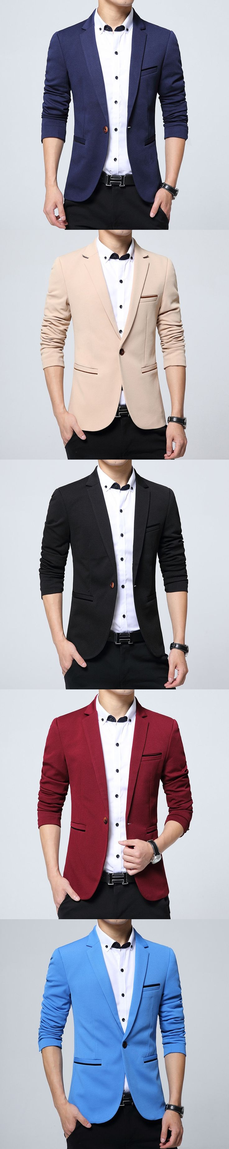 Custom made new style good quality man suit in china Top brand mens slim fit black business suits hot sale Casual Mens Blazer