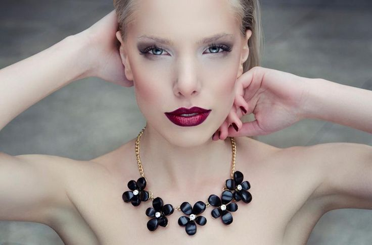 Beautiful lady with a cute statement necklace Cyprian. Perfect shoot! Do U like it guys?