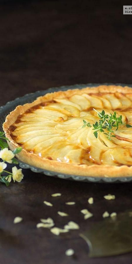 Tarta-flan de manzana. Receta