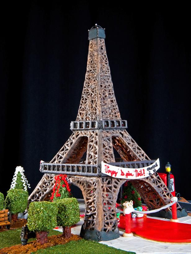 15 Amazing Gingerbread Houses: Merry Christmas and happy new year from the city of light (and love). Second place winner in teen category, Jula Navin of Franklin, Tenn. From DIYnetwork.com