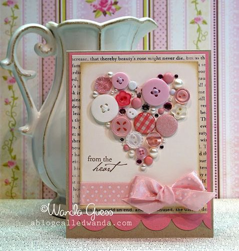 sweet button card#Repin By:Pinterest++ for iPad#