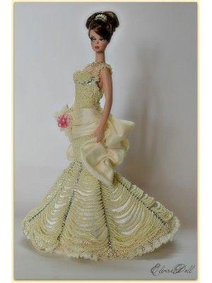 mariage haute couture alta moda sposa 18 silkstone barbie marie robe entirement brode modle