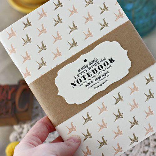 bespoke press   letterpress patterned notebooks