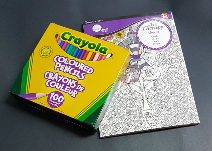 Art Therapy and 100 Crayola Coloured Pencils (Pencil Crayons) Adult Colouring  | eBay