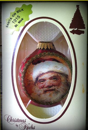 1987 Christmas by Krebs Santa on Silk Christmas Ornament - 1915 St. Nick httpswww.etsy.comshopAvaricia | by Avaricia's Deadly Sinful Vintage Millinery Supply