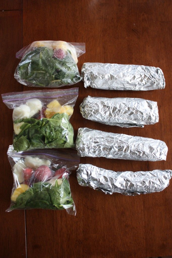 Weekly Food Prep - Smoothie in a Bag and Burritos