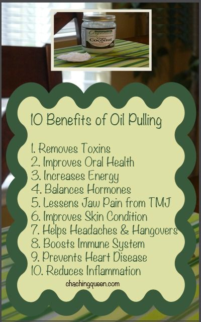 10 Benefits of Coconut Oil Pulling (Swishing Oil in Your Mouth)  –  Why I Swish with Coconut Oil in the Morning