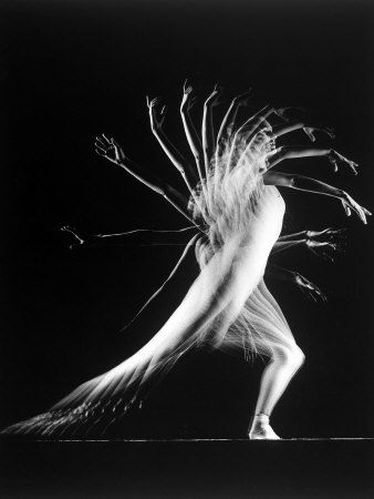 Stroboscopic Study of an Arm Movement Made by Dancer Patricia Mcbride -Gjon Mili