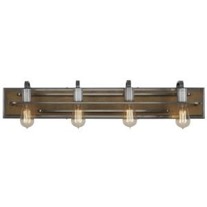 Varaluz Lofty 4-Light Wheat and Steel Bath Light 268B04SLW at The Home Depot - Mobile