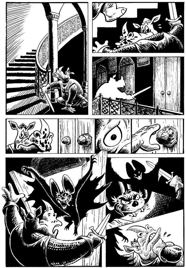 """Page 3 of """"Ominous Origin of Rhinosferatu"""" - published in Historyonics by Cloudscape Comics"""