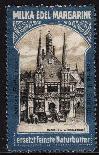 45967-Reklamemarke-MILKA-Edel-Margarine-Rathaus-Wernigerode