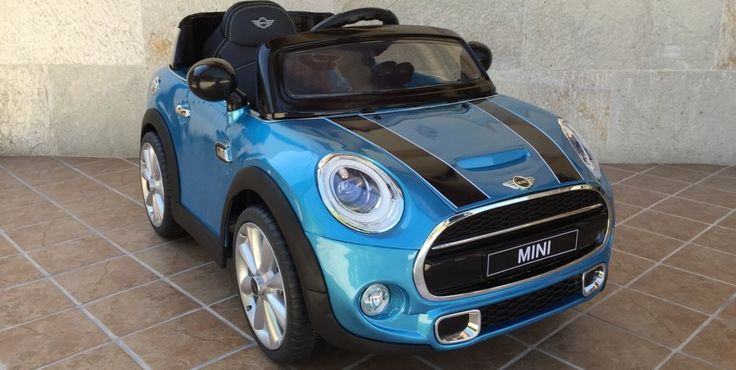 Coches eléctricos infantiles - MINI HATCH 12V 2.4G RC AZUL metalizado, IndalChess.com Tienda de juguetes online y juegos de jardin