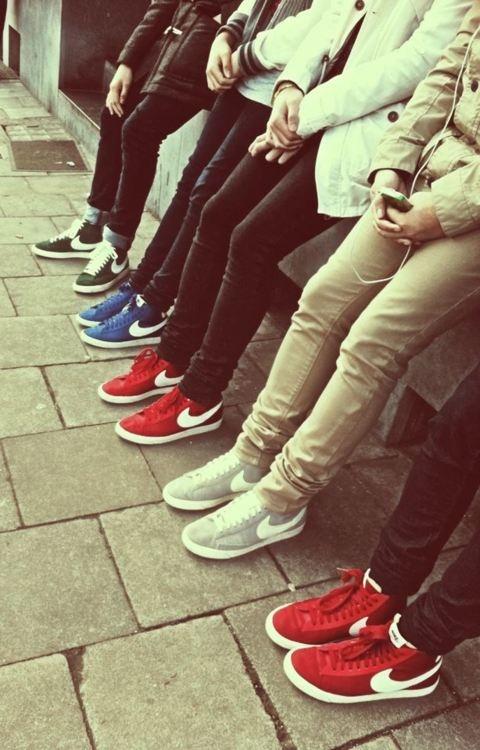 Red - Green - Blue - Grey   Nike Blazer High Top #shoegasm