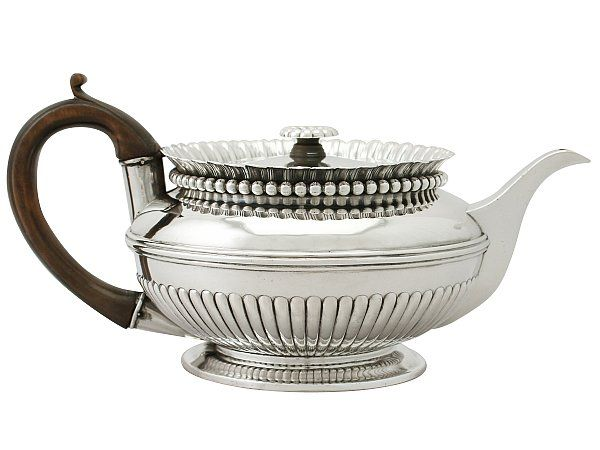 'Paul Storr Teapot in Sterling Silver' An exceptional, fine and impressive antique George III English sterling silver teapot made by Paul Storr.