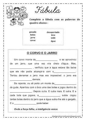 Blog da professora Edivania: FÁBULAS