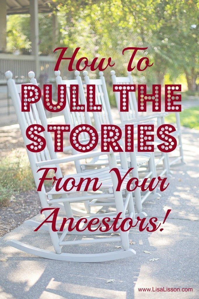 How to Pull the Stories From Your Ancestors - Use the Christmas and holiday season to find your family's stories!