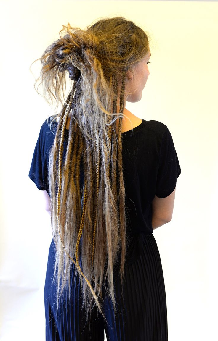One thing that people think of dreadlocks is that there is just one way to wear dreadlocks. One full head of dreadlocks. Just as many people that wears dreadlocks there  is way to style dreads. You just have to find out what way do you find it to be most comfortable to wear your hair? Then think of how could you take that style and combine it with dreadlocks?