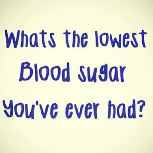 What's the Lowest Blood Sugar You've Ever Had? | www.iamatype1diabetic.com