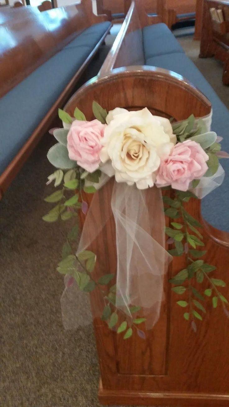 Hope and Joy Home DIY wedding pew bows                              …         …