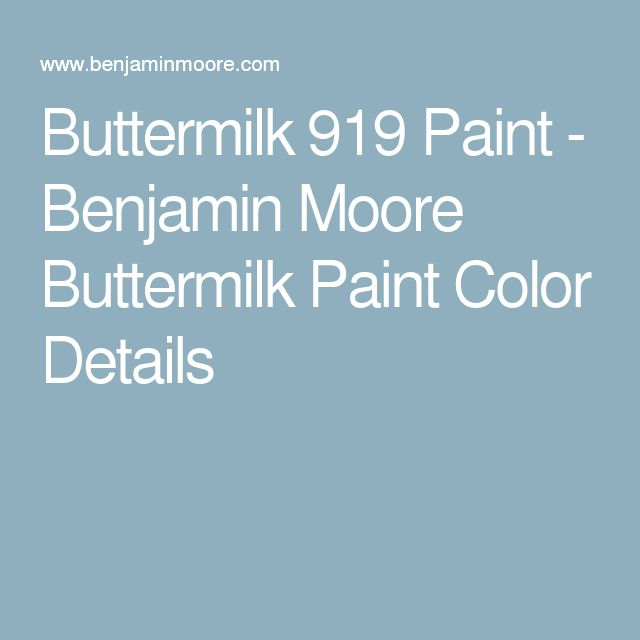 Buttermilk 919 Paint - Benjamin Moore Buttermilk Paint Color Details