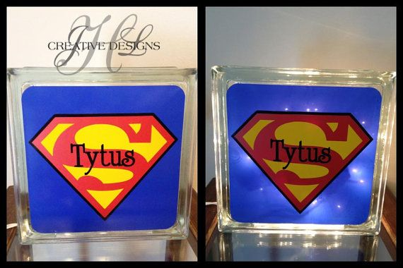 Very cute customized nightlights! Choose your size and customize it anyway you like! Dont see the superhero you want, I can make it! Lights