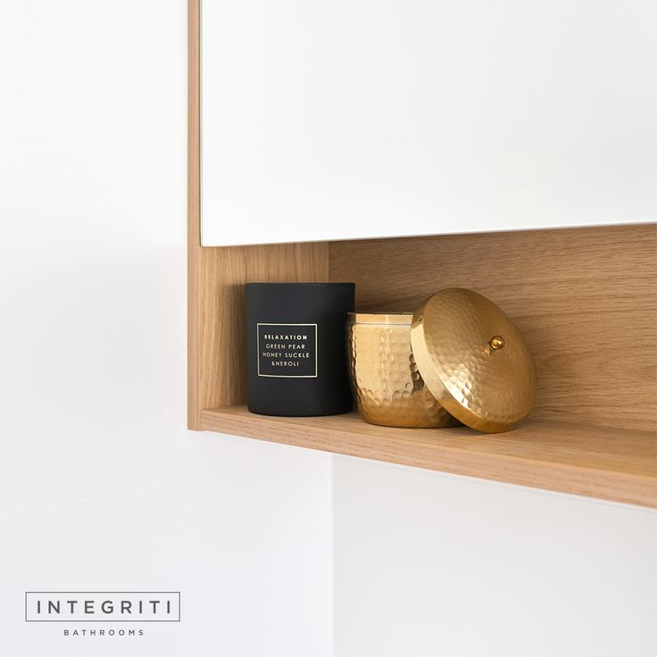 Need a little extra space for storage in your bathroom? Try adding a shelf under your vanity mirror. Practically, it's a great way to add storage space and aesthetically, it'll add a nice touch. . #integritibathrooms #custommade #sydneybathroom #interiordesign #bathroom