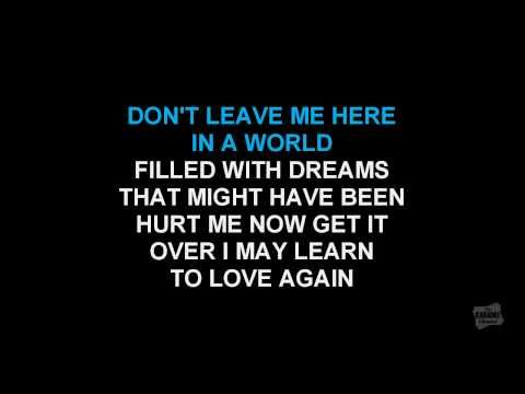 Leavin' On Your Mind in the style of Patsy Cline karaoke video singalong lyrics - YouTube