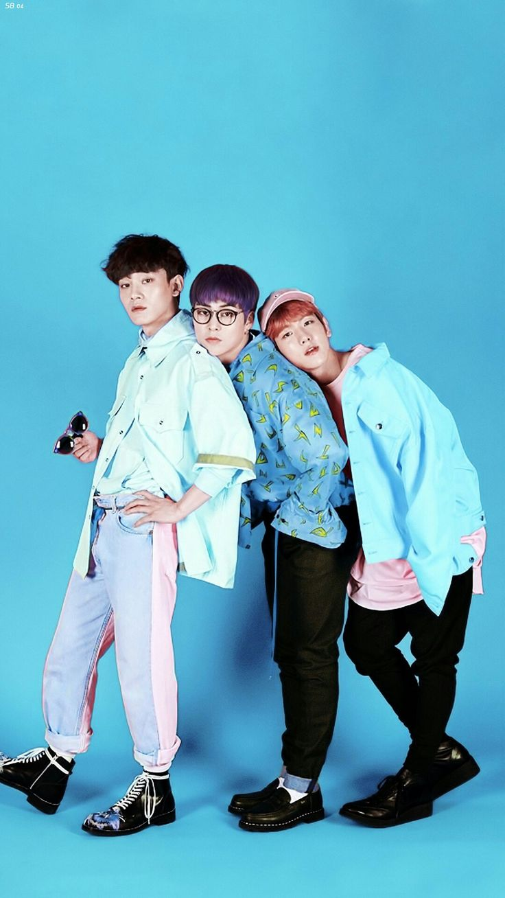 Wallpaper EXO CBX #Ka-CHING blue version