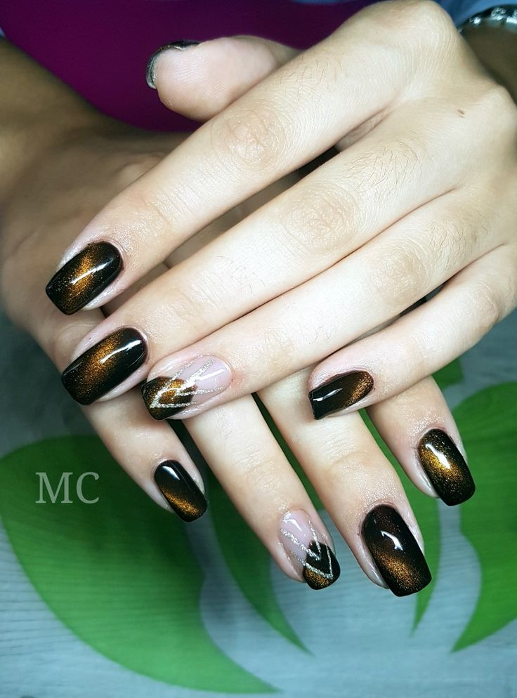 #gellack #naildesign #magneticnails #cateye