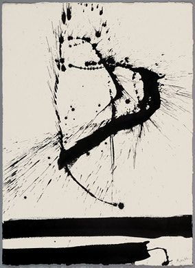 A lithograph from Abstract Expressionist Robert Motherwell I really like Motherwell's work because of how he composes his work. His work is very abstract which I enjoy. I may be incorporating some of his printmaking techniques.