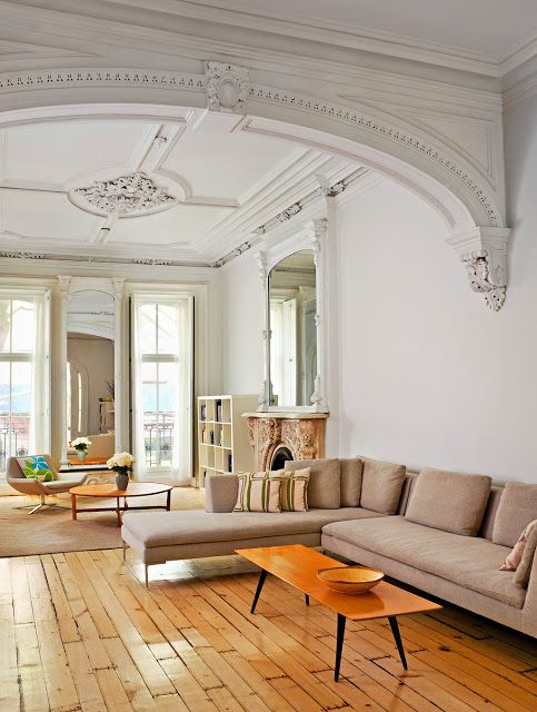 I don't like the furniture, but the wood work is beautiful and I love the openness