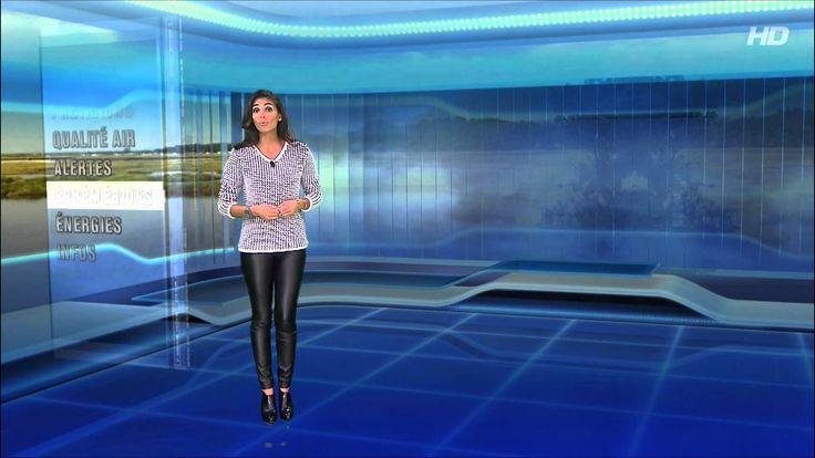 Tatiana Silva Super Hot Miss Meteo / Sexy Tight Leather Pant - YouTube